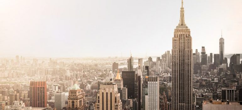 Aerial photography of New York.