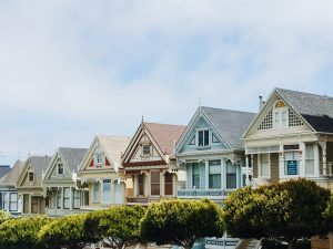 A colorful neighborhood.
