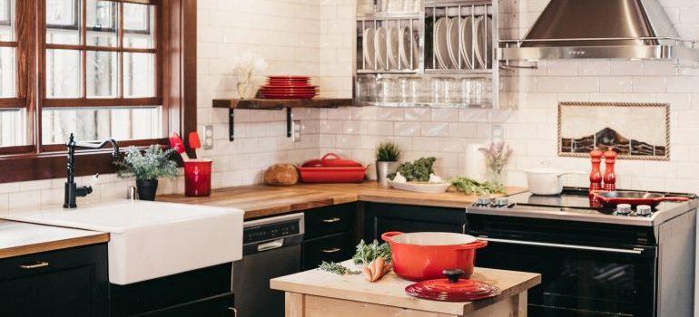 A kitchen interior.
