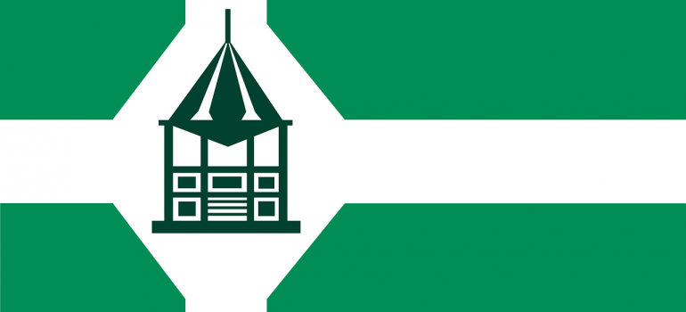 green flag of new milford