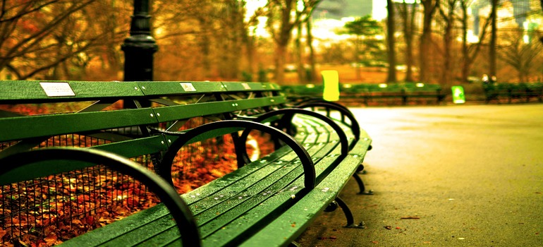 places to relax in New York City - a bench