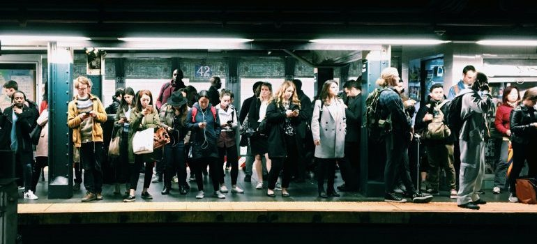 People at the subway