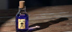 a poison bottle