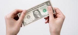 - a dollar bill