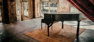 An old piano in the attic