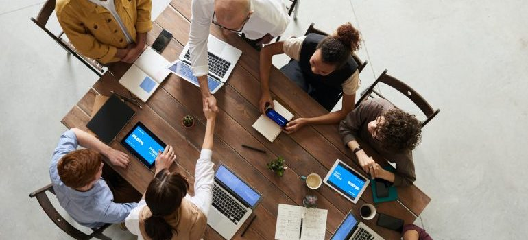 Gather the people around the table and talk business if you want to expand your business after a move