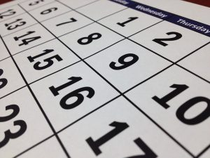 you will need a calendar to prepare for an interstate move in a month