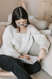 -woman writting