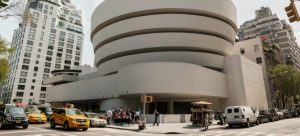 The Guggenheim museum where you can see a lot of art exhibitions in NYC