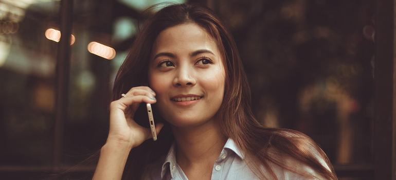 girl on a phone