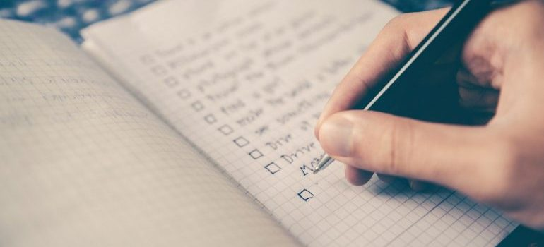 a person trying to create an international moving checklist