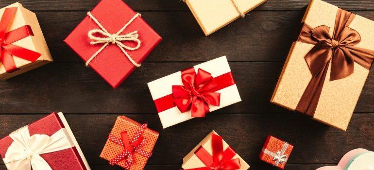 Presents on the floor