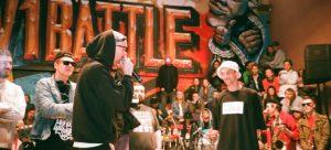 A hip hop battle of verses