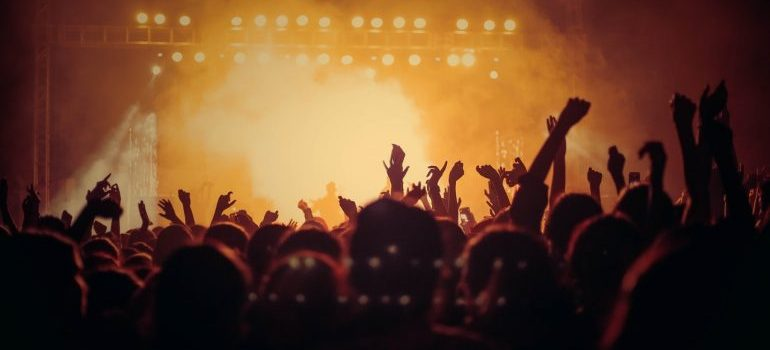 People partying during a concert