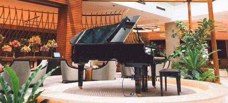 A concert piano.