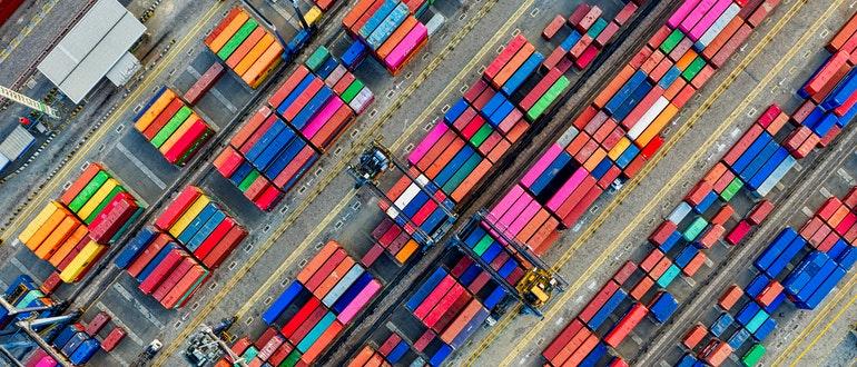 Container van lot