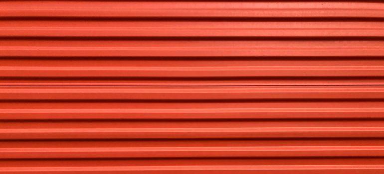 red storage door - Choosing storage solutions