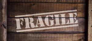 a fragile sign box