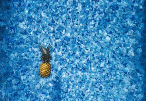A pool with pineapple