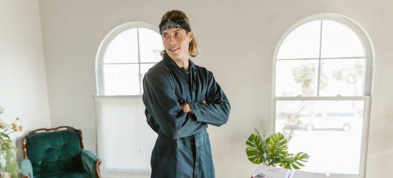 a man standing - protect heat sensitive items