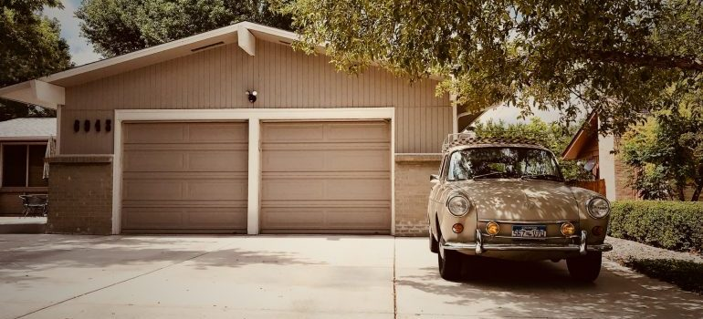 car and the garage ready to store your summer sports equipment properly