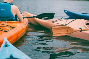 summer sports equipment for kayaking