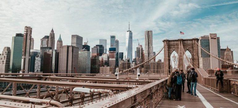 Brooklyn Bridge, above Brooklyn Bridge Park