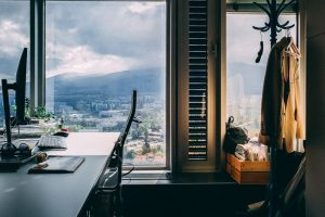 Home-office with city views